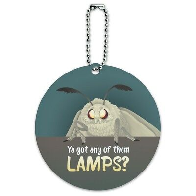 Moth Lamp Meme Round Luggage ID Tag Card Suitcase Carry-On