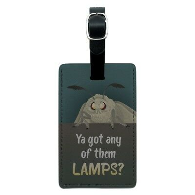 Moth Lamp Meme Rectangle Leather Luggage Card Suitcase Carry-On ID Tag