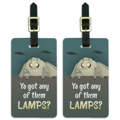 Moth Lamp Meme Luggage ID Tags Suitcase Carry-On Cards - Set of 2