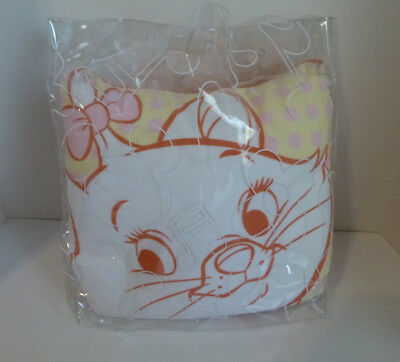 Japan Disney Aristocats Marie Squishy Bean Pillow Carry Case Flowers Music Notes
