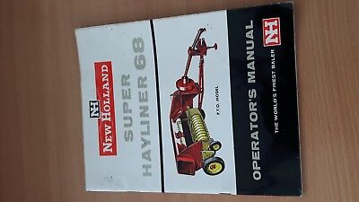 New Holland Super Hayliner 68 Baler Operator's Manual