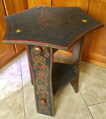 Antique Imperial Russian Khokhloma Samovar Table, Russian Folk Art