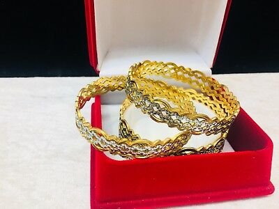 Indian Traditional Gold Plated 2 Pc Set All Sizes Available,bollywood Gold Plate