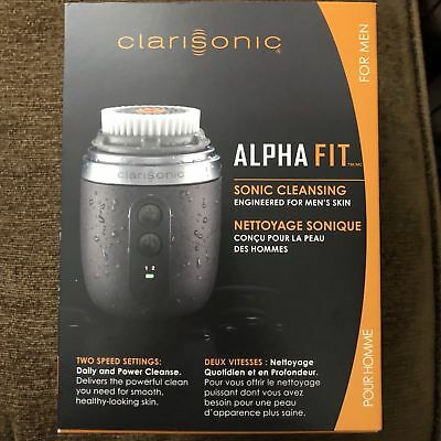 Clarisonic Mens Alpha Fit Sonic Skin Care Cleansing System.