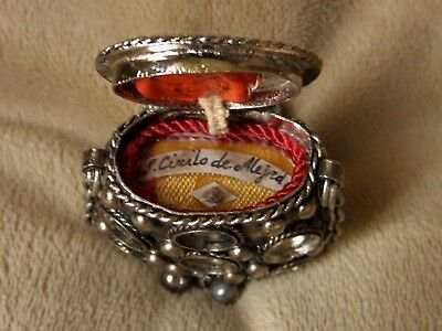 ANTIQUE RELIQUAIRE ST.CIRILO OF ALEXANDRIA DOCTOR OF THE CHURCH RELIC w/WAX SEAL
