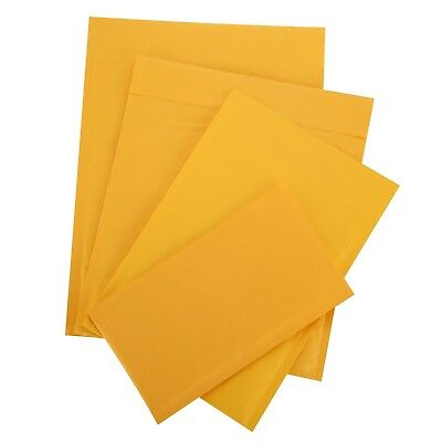 100 6.5X9 Kraft bubble Padded Envelopes Mailers 6.5 X 10 fit DVD CD Case