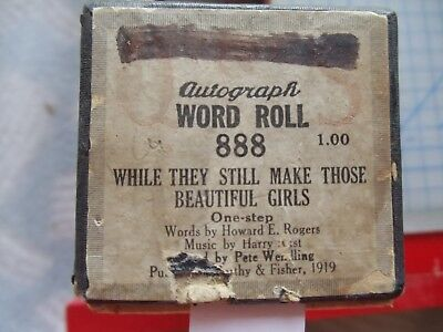 QRS 88 Note Player piano roll 888 While They Still Make Those beautiful Girls