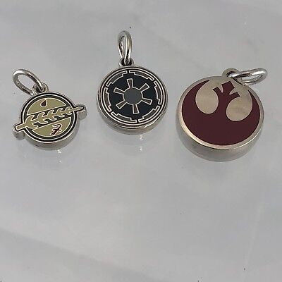Star Wars Rebellion Empire and Mandalorian shield emblem Pendants