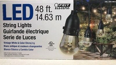 Feit Electric Led String Lights Color Changing W Remote