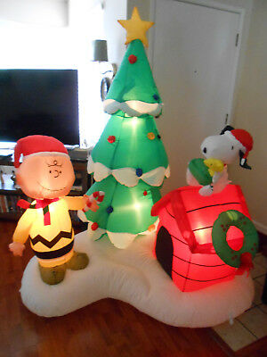 Gemmy Industries Charlie Brown -Snoopy Woodstock 6Ft. Christmas Inflatable