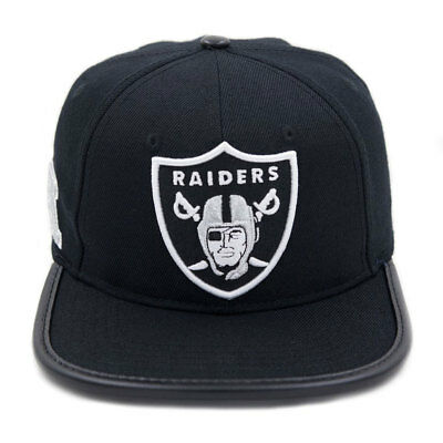 b7e28a7de11 ... best price pro standard mens nfl oakland raiders logo leather buckle  hat black w pin df236