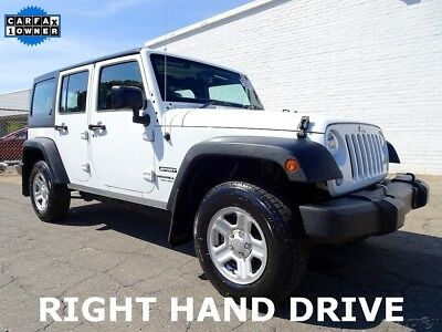 2015 Jeep Wrangler Unlimited Sport RHD Right Hand Drive Mail Postal Delivery 2015 Jeep Wrangler 4X4 Unlimited Sport RHD Utility 4Door Right Hand Mail Carrier