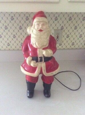 Vintage Lighted Hard Plastic Santa