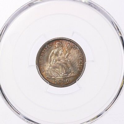 1890 Seated 10C PCGS Certified MS66 Mint State Graded 66 US Silver Dime Coin