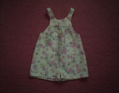 "Girls ""Matalan"" White/Multi Floral Winter Dungarees/Playsuit for Age 4-5 years"