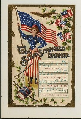 Memorial Day - Music / Song -  The Star Spangled Banner - Lady Liberty - 1917