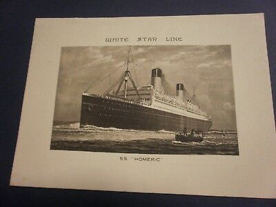 White Star Line Log Abstract S.s. Homeric