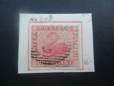 Western Australia Stamps: 1d Swan Perforated Used  (k148
