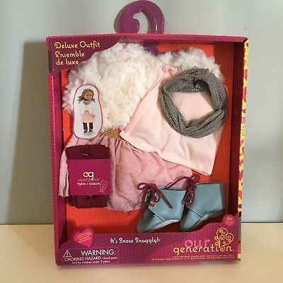 OUR GENERATION DOLL CLOTHES NEW ALSO FITS AMERICAN GIRL DOLL It's Snow Snuggly