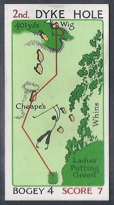 Churchman-Can You Beat Bogey At St Andrews(Red Overprint)-#06- Quality Golf Card