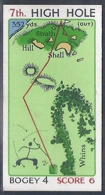 Churchman-Can You Beat Bogey At St Andrews(Red Overprint)-#21- Quality Golf Card
