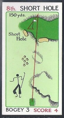 Churchman-Can You Beat Bogey At St Andrews(Red Overprint)-#23- Quality Golf Card