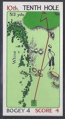 Churchman-Can You Beat Bogey At St Andrews(Red Overprint)-#28- Quality Golf Card