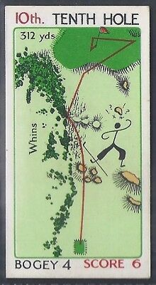 Churchman-Can You Beat Bogey At St Andrews(Red Overprint)-#29- Quality Golf Card