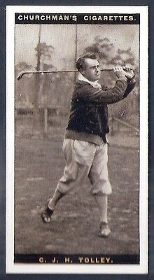 Churchman-Famous Golfers Golf (Standard Size)-#43- Cyril James Tolley