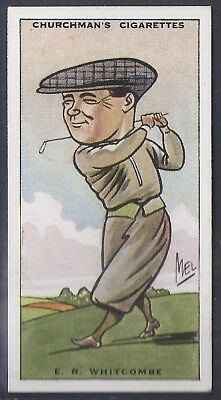Churchman-Prominent Golf Ers (Standard Size)-#48- Ernest Whitcombe