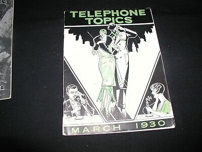 Old Vintage New England Telephone Topics Magazine March 1930 30's Fashion Cover