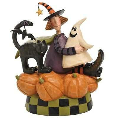 Williraye Studio Pumpkin Patch Friends Witch Ghost Black Cat Halloween Figure