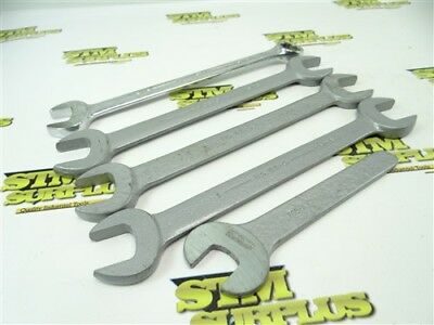 """5Pc Lot Armstrong Machinists Wrenches 13/16"""" To 1"""""""