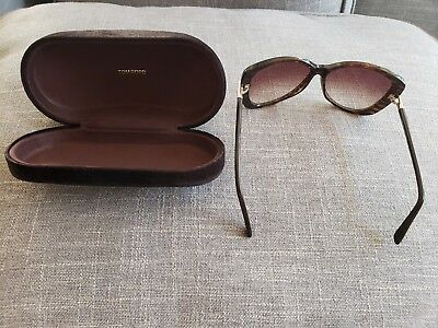b987fc733cd TOM FORD Linda Butterfly Women Sunglasses Interlaced Brown Gradient ...