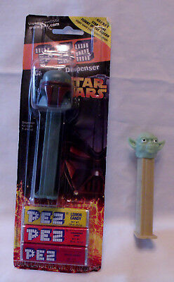 2 Star Wars Pez Dispensers One New in Package Yoda Boba Fett!