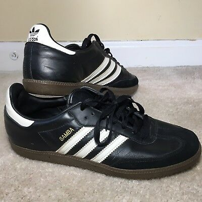 best choice discount sale wholesale MENS ADIDAS SAMBA 10.5 Black & White Leather And suede Shoes ...