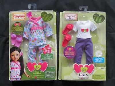 """NEW Playmates Hearts for Hearts 14"""" Doll Clothes Pajams Outfits Fashion Sets"""