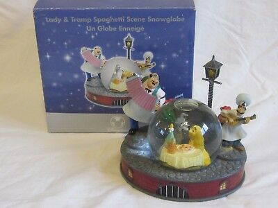 Disney Store Lady And The Tramp Spaghetti Scene Musical Snow Globe Belle Notte