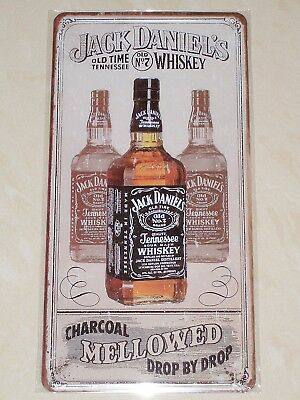 Jack Daniels Tennessee Whiskey Old No.7 - Novelty Metal Sign - Number Plate Size