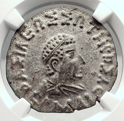 HERMAIOS Baktria Ancient INDO Greek 80BC Silver Tetyadrachm Coin NGC MS i72863