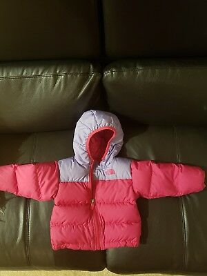 ** Baby Girls THE NORTH FACE Puffer Down Coat ** Size 6-12M