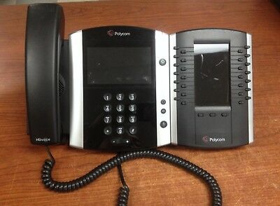 POLYCOM VVX 600 POE Gigabit VOIP 2201-44600-001 Phone w/ Expansion | PH685DS