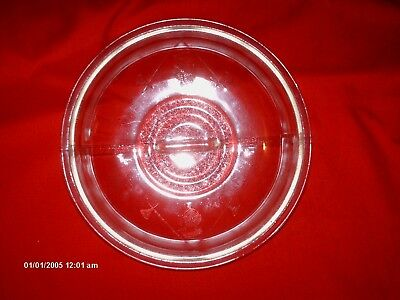 "Vintage Guardian Service Round Glass Replacement Dome Lid Cover GC-51 9 3/4"" VGC"