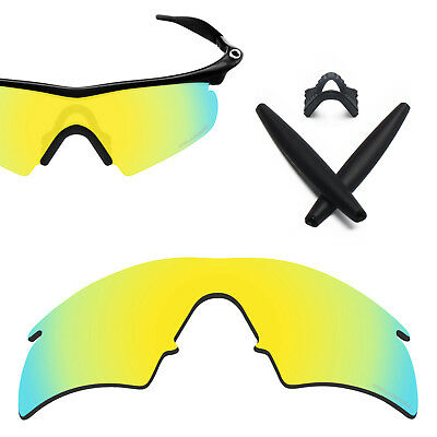 4b041ffaa5 LO Anti-seawater Gold Polarized Lens Replacement for-Oakley M frame Hybrid