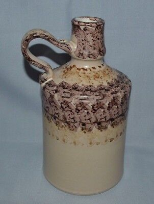 Beautiful Ceramic Jug With Handle Done In Shades Of Browns & Beigh 7 1/2 Tall