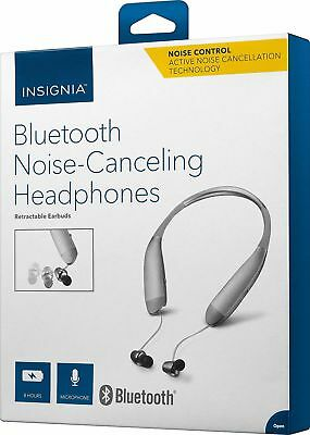 INSIGNIA In-Ear Bluetooth Wireless Noise Canceling Headphones NS-CAHBTEBNC-S