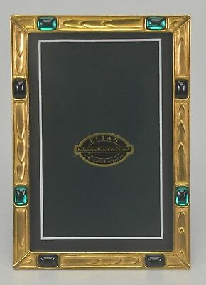 "Elias Artmetal Gold Plated 4"" x 6"" Crystal Picture Frame Style #5024G"