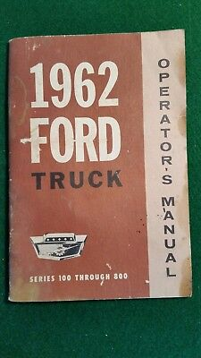 Ford Truck Operator's Manual 1962