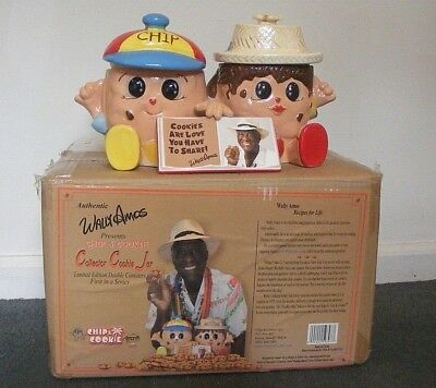 New in Box - Wally Famous Amos Collectible Cookie Jar - Chip  New!  Sealed!