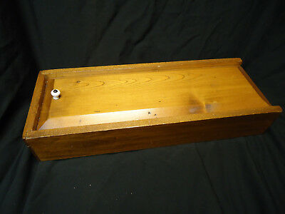 Vintage Wooden Box with sliding door. Real wood